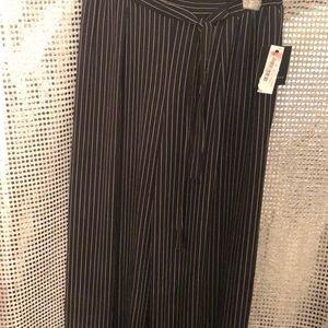 Striped black pants, brand new.